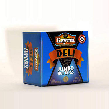 Kayem Deli Plump & Juicy Jumbo Hot Dogs (3 lb.)