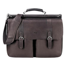 "SOLO - Classic 16"" Leather Briefcase, 16-1/2 x 5 x 13 -  Espresso"