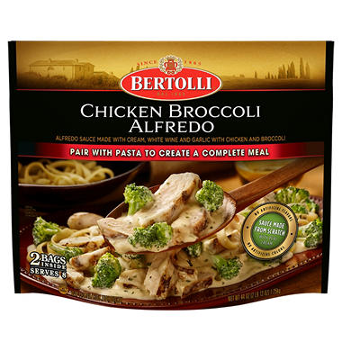 Bertolli Chicken Broccoli Alfredo (22 oz. bag, 2 ct.)