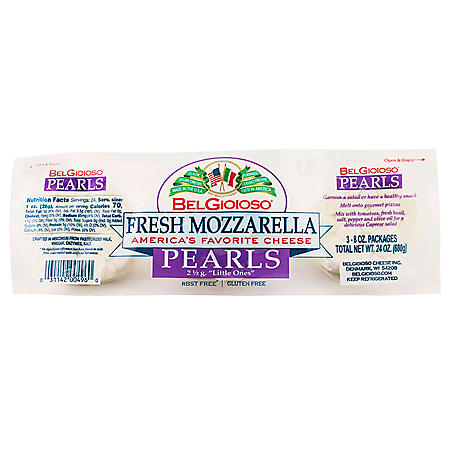 BelGioioso Fresh Mozzarella Cheese Pearls (8 oz., 3 pk.)