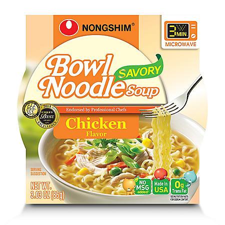 Nongshim Savory Chicken Bowl Noodle Soup (3.03 oz., 12 ct.)