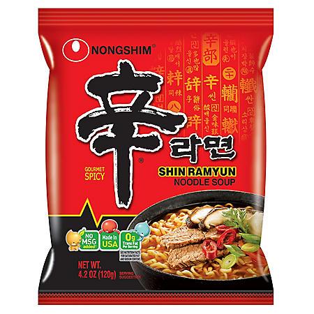 Nongshim Shin Ramyun Noodle Soup (4.2 oz. pkg., 16 ct.)