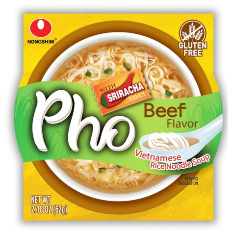 NongShim Pho Beef Rice Noodle Bowl (6 ct.)