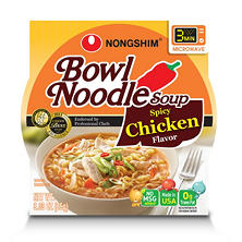 Nongshim Bowl Noodle Soup, Spicy Chicken (3.03 oz. bowl, 12 ct.)