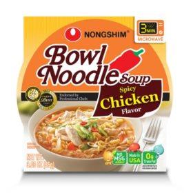 Nongshim Bowl Noodle Soup, Spicy Chicken (3.03 oz. bowl, 12 ct.)