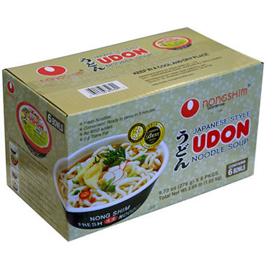 Nongshim Fresh Udon Bowl Noodle Soup (9.73 oz., 6 ct.)