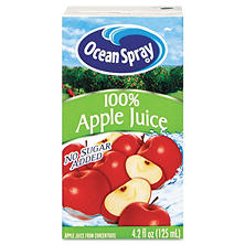Ocean Spray Aseptic Juice Boxes, 100% Apple (4.2 oz. box, 40 pk.)