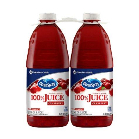 Member's Mark 100% Cranberry Juice (96 oz., 2 pk.)