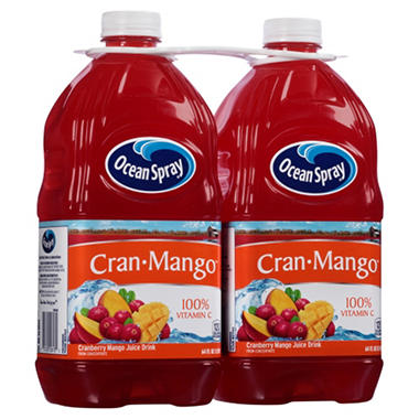Ocean Spray Cran Mango Juice Drink (64 fl. oz. bottles, 2 ct.)
