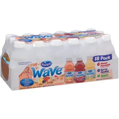 Ocean Spray Wave Juice Drink Variety Pack (10 fl. oz., 18 ct.)