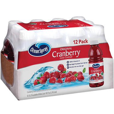 Ocean Spray Cranberry Juice Cocktail (15.2 oz., 12 pk.)
