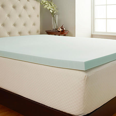 "Comfort Tech 2"" Serene Performance Foam Mattress Topper with Cover (Assorted Sizes)"