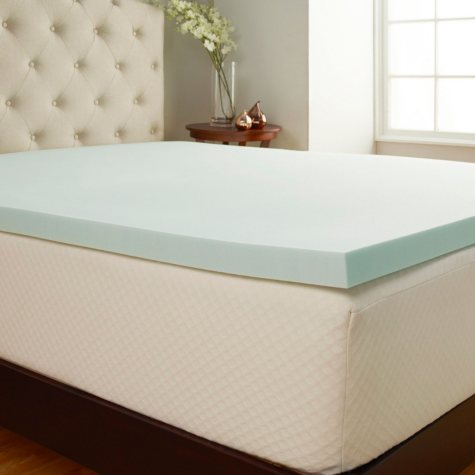 """Comfort Tech 2"""" Serene Performance Foam Mattress Topper with Cover (Assorted Sizes)"""