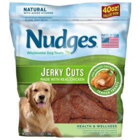 Nudges Health Wellness Chicken Jerky Dog Treats, 40 oz.