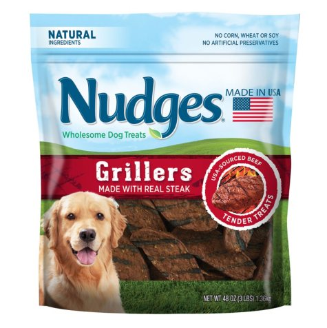 Nudges Wholesome Dog Treats, Steak Grillers (48 oz.)