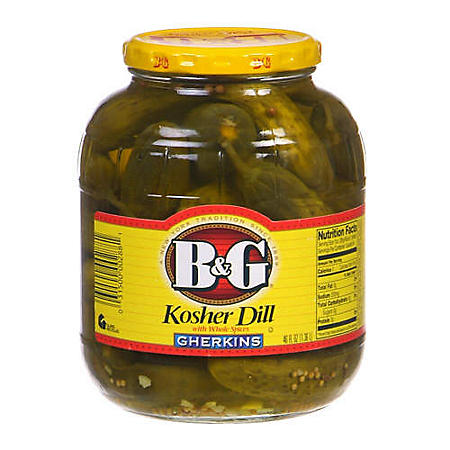 B&G Kosher Dill Gherkins - 46 oz. jar