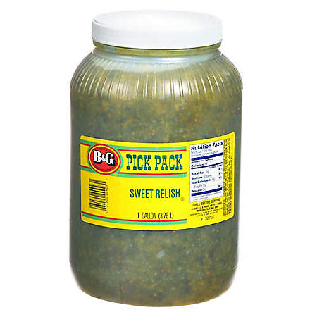 B&G® Sweet Relish - 1 gallon jar