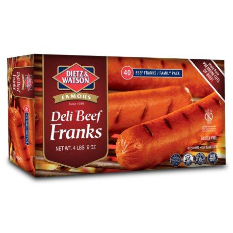 Dietz & Watson Deli Beef Franks (40 ct.)