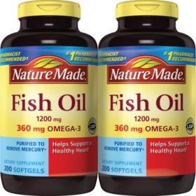 Nature Made Fish Oil (200 ct., 2 pk.)