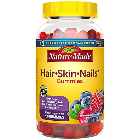 Nature Made Hair, Skin & Nails 2,500 mcg Gummies (250 ct.)