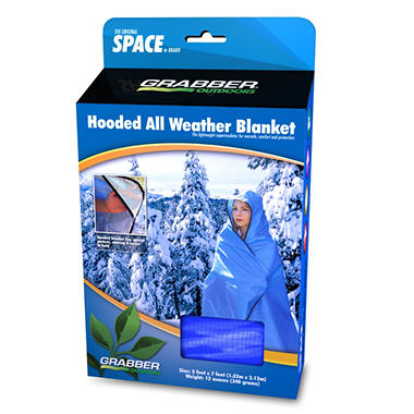 Hooded All Weather Blanket - Blue