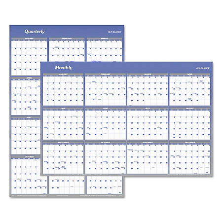 AT-A-GLANCE Vertical/Horizontal Erasable Wall Planner, 32 x 48, 2020