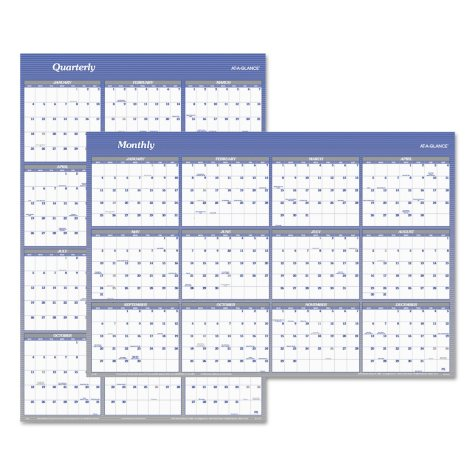 AT-A-GLANCE® Vertical/Horizontal Erasable Wall Planner, 32 x 48, 2019