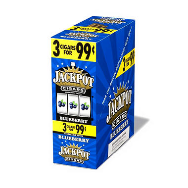 Jackpot Blueberry Cigarillos, 3 for $0.99 (45 ct.)