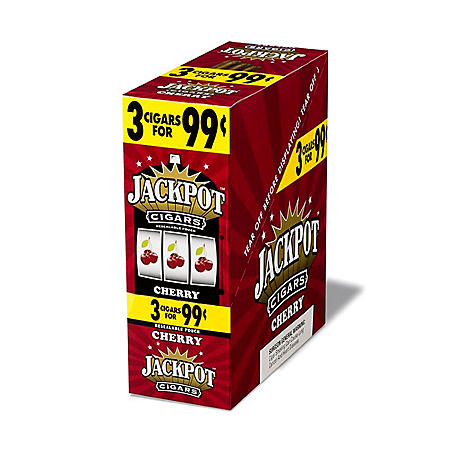 Jackpot Cherry Cigarillos, Prepriced 3 for $0.99 (45 ct.)