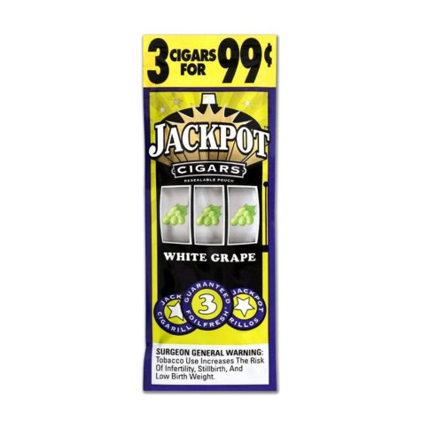 Jackpot White Grape Cigarillos, 3 for $0.99 (45 ct.)
