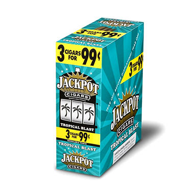 Jackpot Tropical Blast cigars, Prepriced 3 for $0.99 (45ct.)