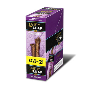 Game Leaf Cigars, Wild Berry, Prepriced Save on 2 (2 pk., 15 ct.)
