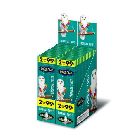 White Owl Cigarillo, Tropical Twist, Pre-Priced 2 for $0.99 (2 pk. 30 ct.)