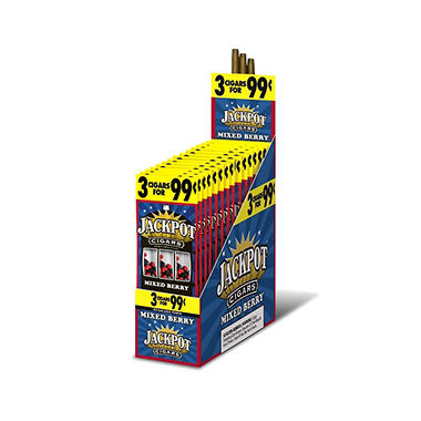 Jackpot Cigars, Mixed Berry, Prepriced 3/$0.99 (3 pk., 15 ct.)