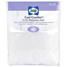 "Sealy Cool Comfort Crib Mattress Pad (52"" x 28"" x 8.5"")"