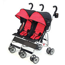Kolcraft Cloud Double Umbrella Stroller, Scarlet