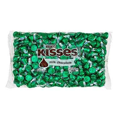 Kisses Milk Chocolates Green (66.7 oz.)