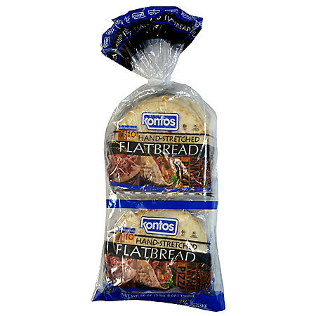 Kontos Hand-Stretched Flatbread (28oz / 2pk)