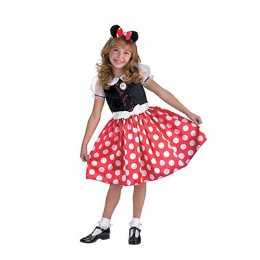 Minnie Mouse Child Costume - Red - Size 4-6