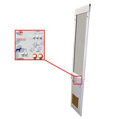 High Tech Pet - Power Pet Electric Patio Door -Medium - Regular Height