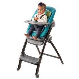 Evenflo Quatore 4-in-1 High Chair, Deep Lake