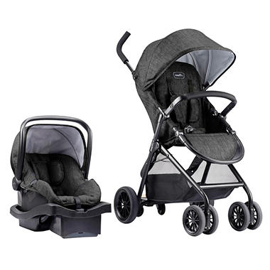 evenflo sibby travel system with litemax infant car seat sam 39 s club. Black Bedroom Furniture Sets. Home Design Ideas