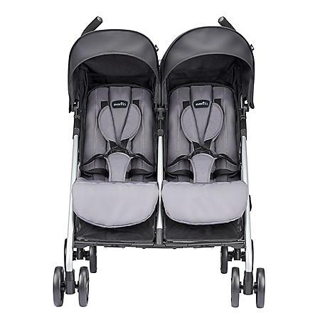 Evenflo Minno Twin Double Stroller, Glenbarr Gray