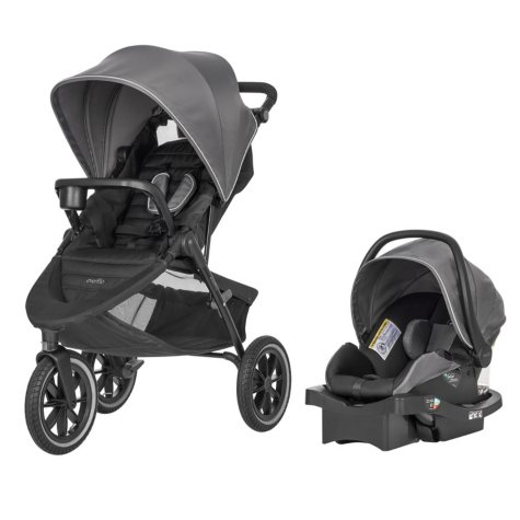 Evenflo Folio3 Stroll & Jog Travel System (Choose Your Color)