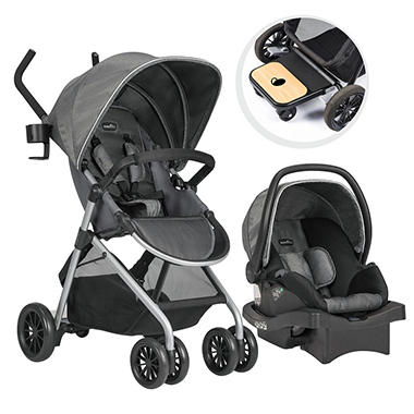 Evenflo Sibby Travel System With LiteMax Infant Car Seat Choose Your Color
