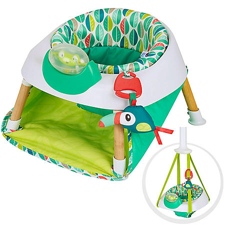 Evenflo ExerSaucer Tiny Tropics 2-in-1 Baby Seat and Door Jumper