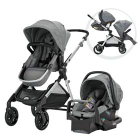 Evenflo Pivot Xpand Travel System with SafeMax Infant Car Seat, Stallion