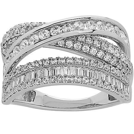 1.42 CT. T.W. Diamond Anniversary Ring in 14K White Gold