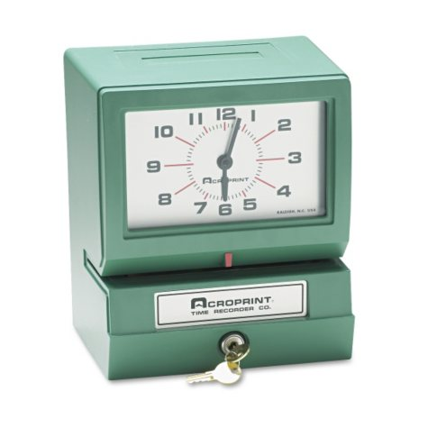 Analog Manual Print Time Clock with Date
