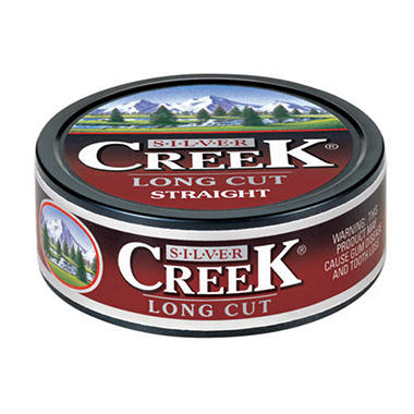 Silver Creek Fine Cut Moist Snuff - 5 can roll